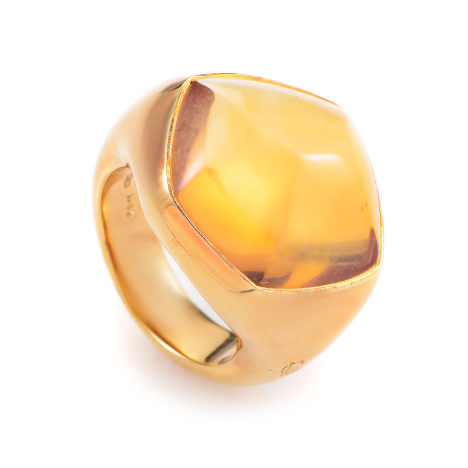 Pomellato 18K Yellow Gold Citrine Ring AK1B2757