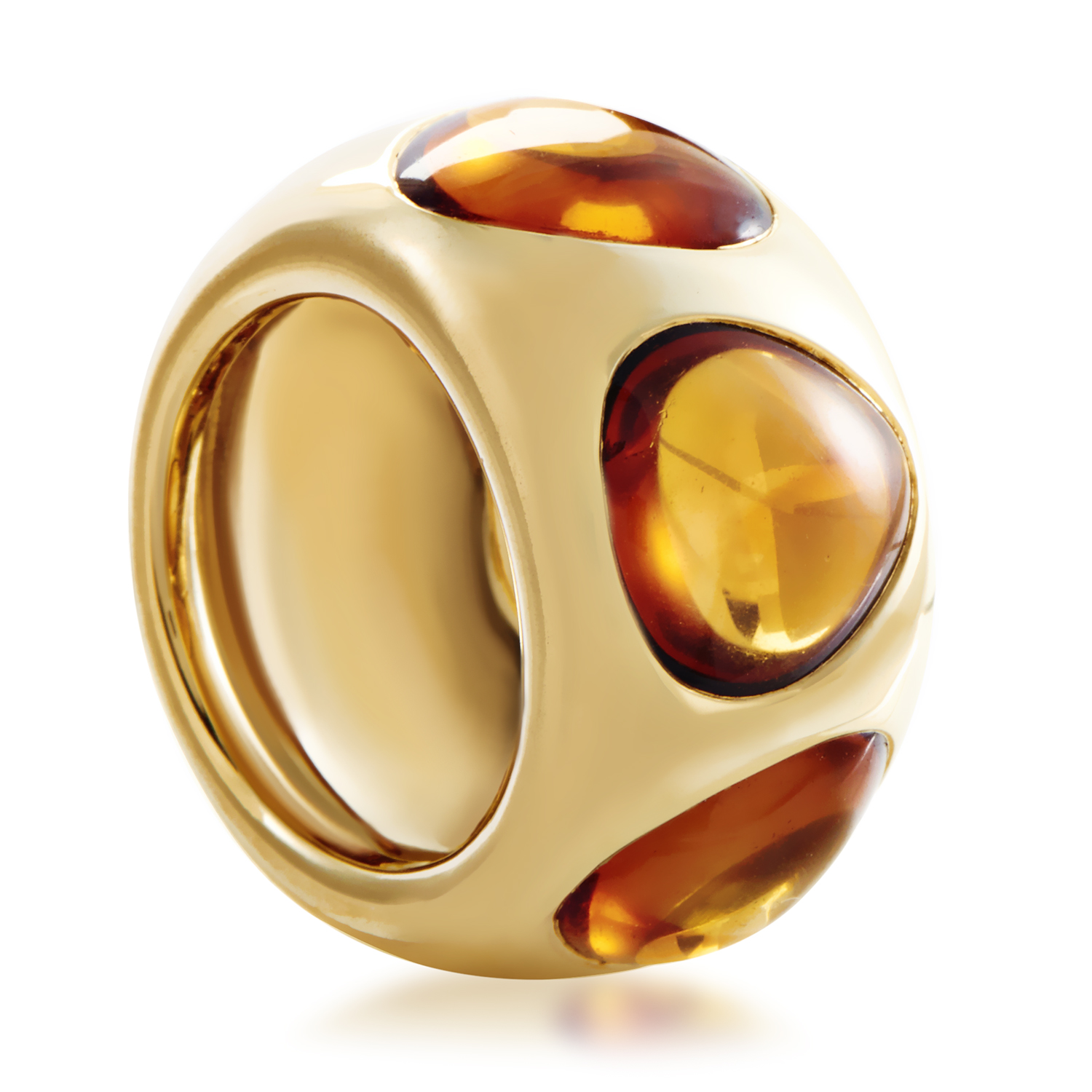 Pomellato Women's 18K Yellow Gold Citrine Band Ring
