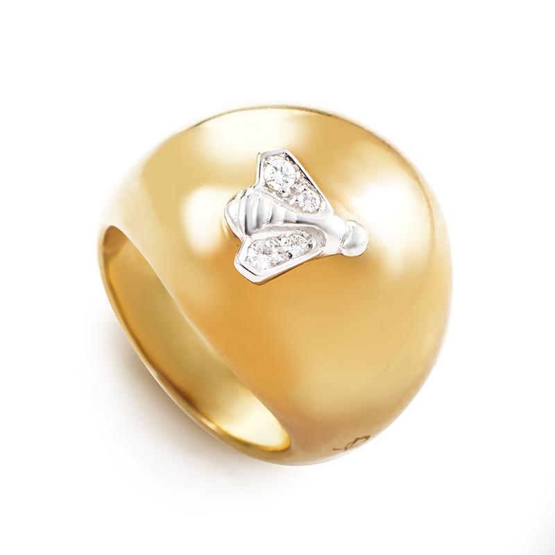Pomellato Women's 18K Multi-Tone Gold Diamond Bumblebee Dome Ring