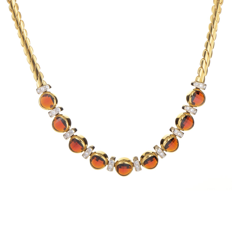 Pomellato Women's 18K Yellow Gold Diamond & Garnet Necklace