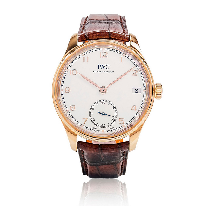 Portuguese Hand-Wound Eight Days IW510204 (Rose Gold)
