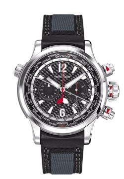 Master Compressor Extreme World Chronograph (SS-Ti / Grey Carbon-Fiber / Leather)
