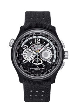AMVOX5 World Chronograph (Titanium-Ceramic / Black / Leather Strap)