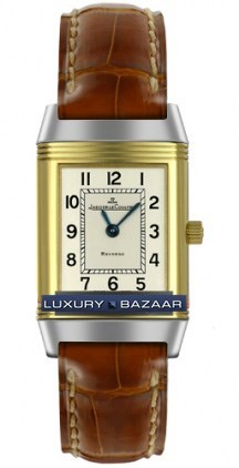 Jaeger LeCoultre Reverso Ladies  (SS- YG / White /Leather)