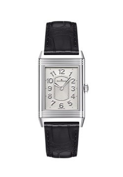 Grande Reverso Lady Ultra Thin (SS / Silver / Leather Strap)