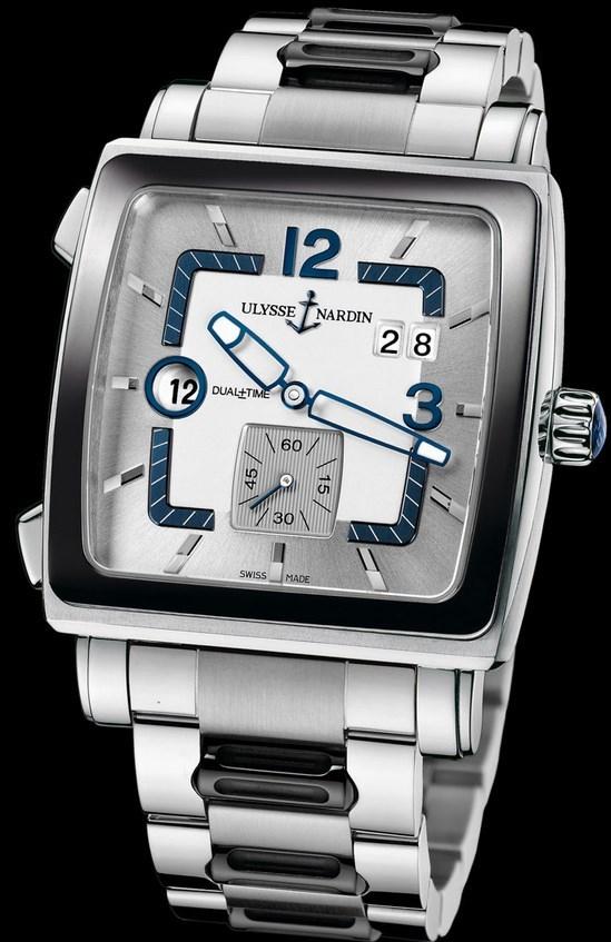 Quadrato Dual Time 42x42mm 243-92CER-7M/601