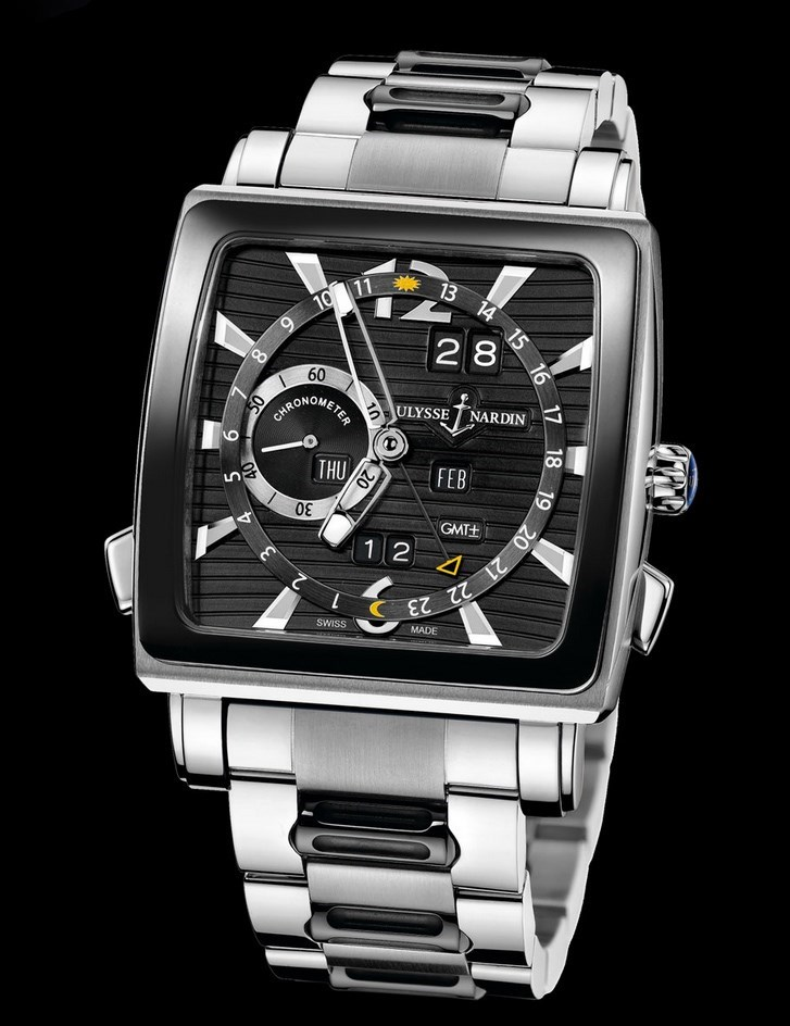 Quadrato Dual Time Perpetual 42x42mm 320-90CER-8M/92