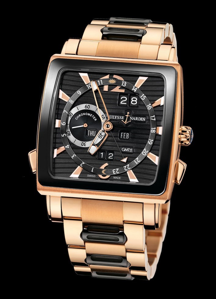 Quadrato Dual Time Perpetual 42x42mm 326-90CER-8M/92