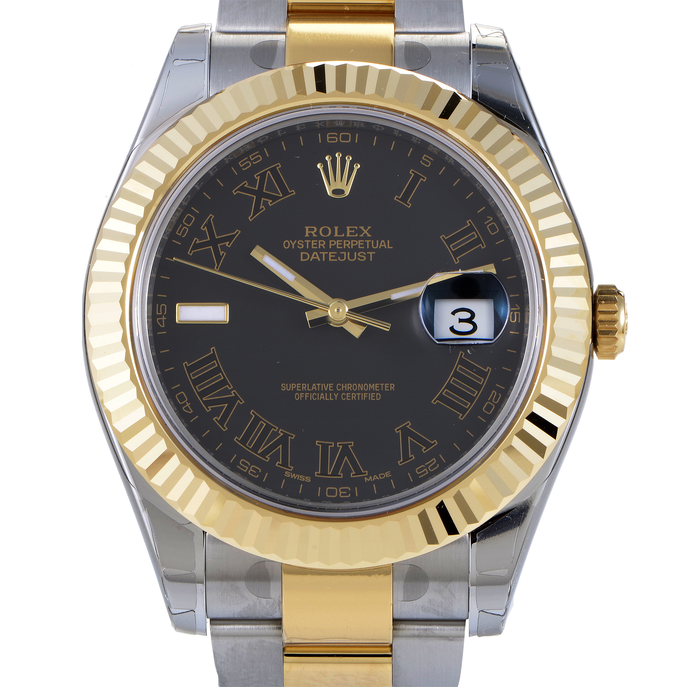 Oyster Perpetual Datejust II Men's Automatic Watch 116333 bkrio
