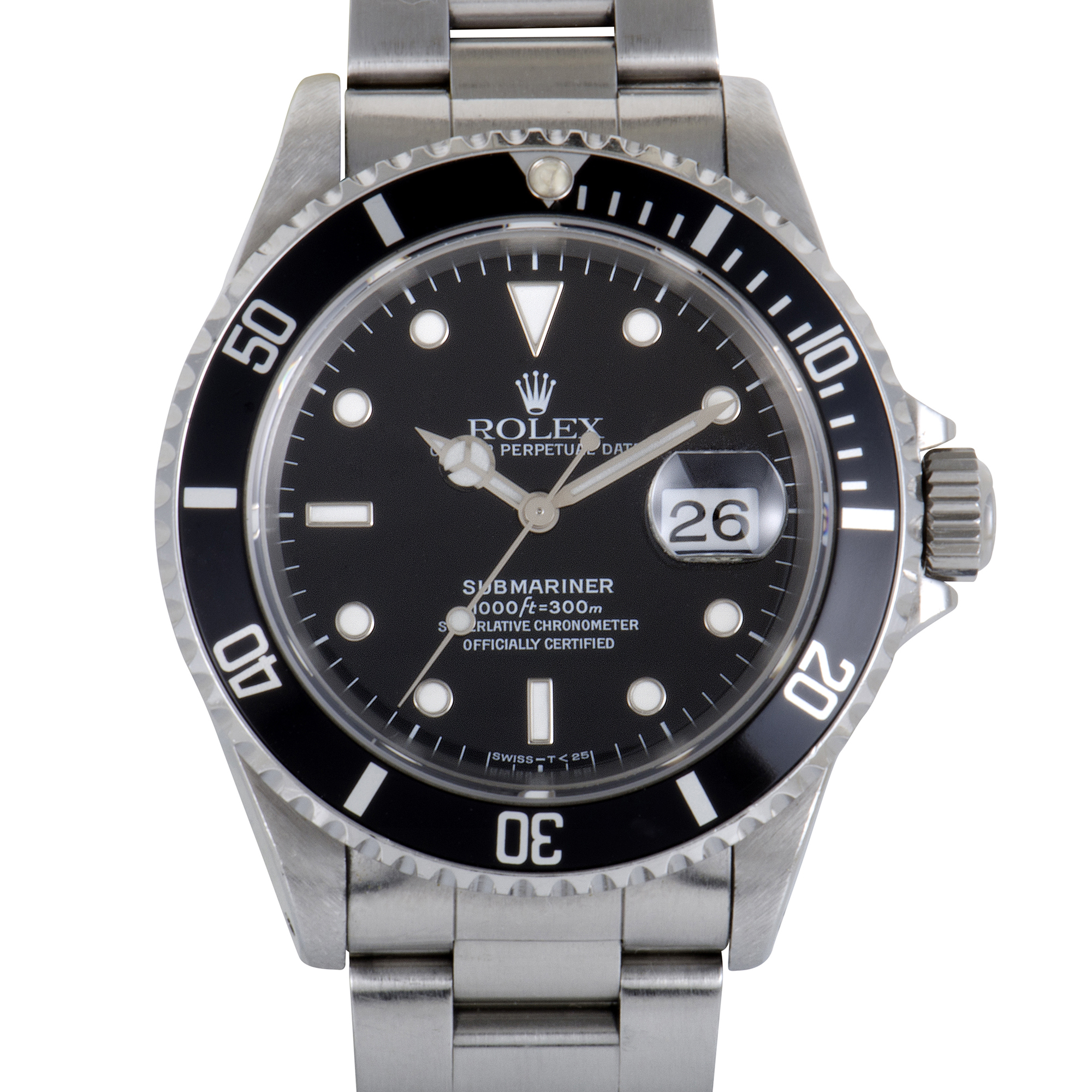 rolex oyster perpetual submariner date automatic watch. Black Bedroom Furniture Sets. Home Design Ideas