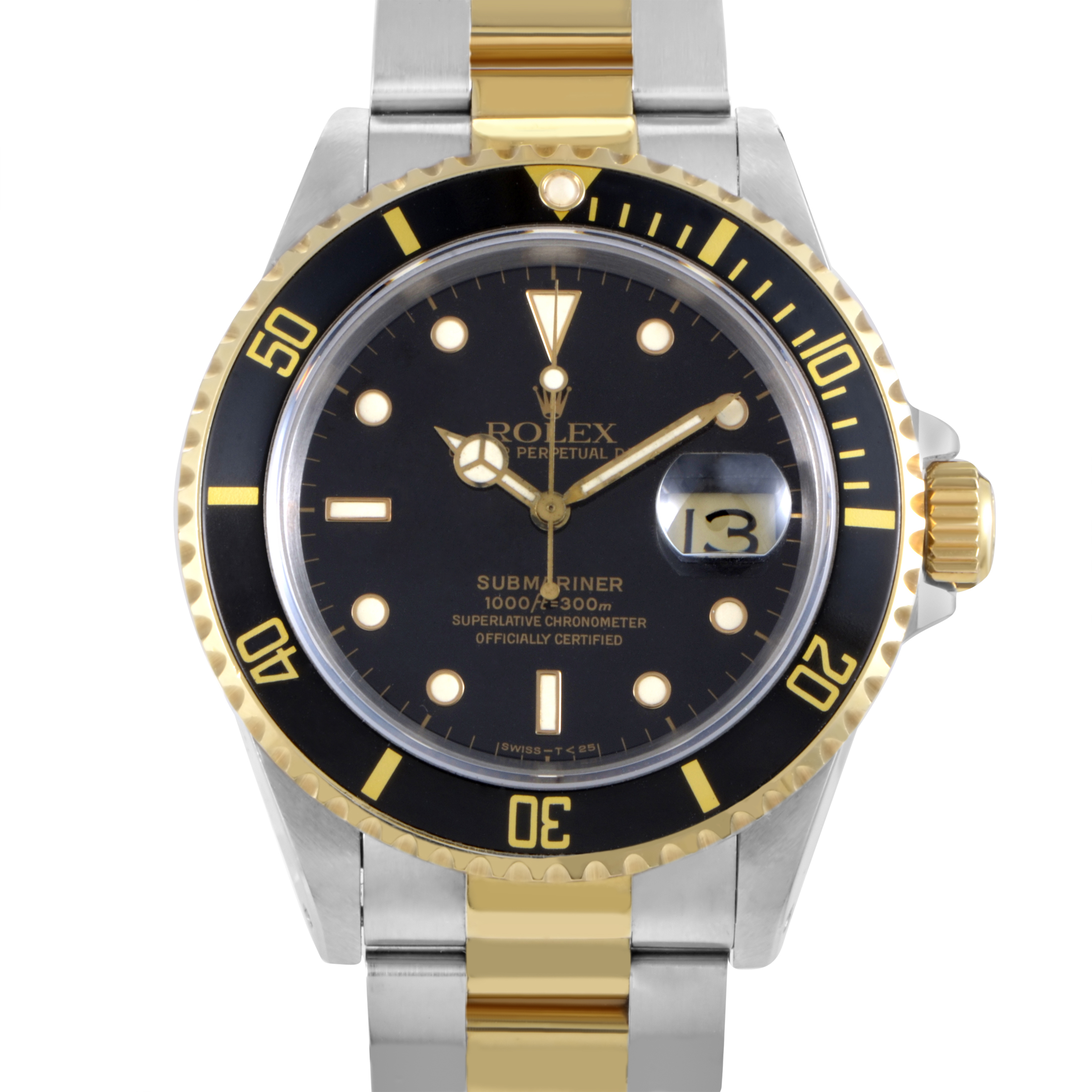 Oyster Perpetual Submariner Date Rolesor Men's Watch 116613 bk