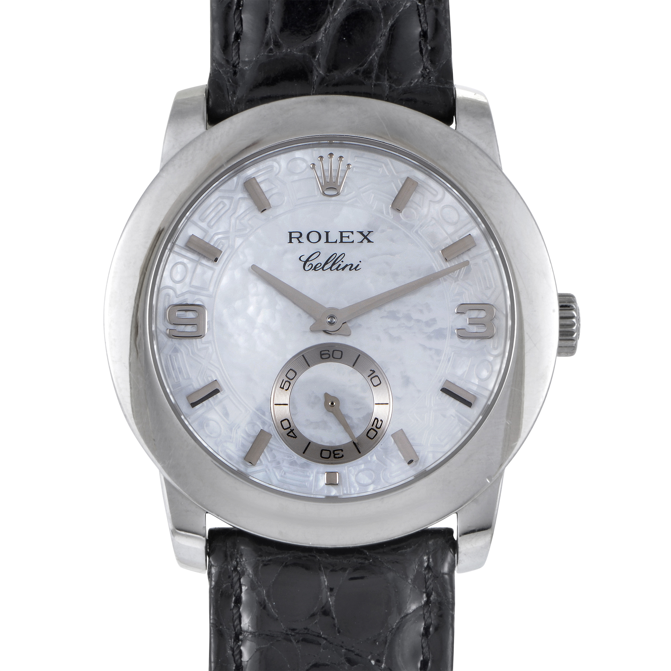 Rolex cellini cellinium mens automatic platinum watch 5240 6 d ebay for Rolex cellini