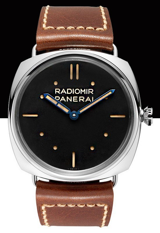 Radiomir SLC 3 Days (SS / Black / Leather Strap)