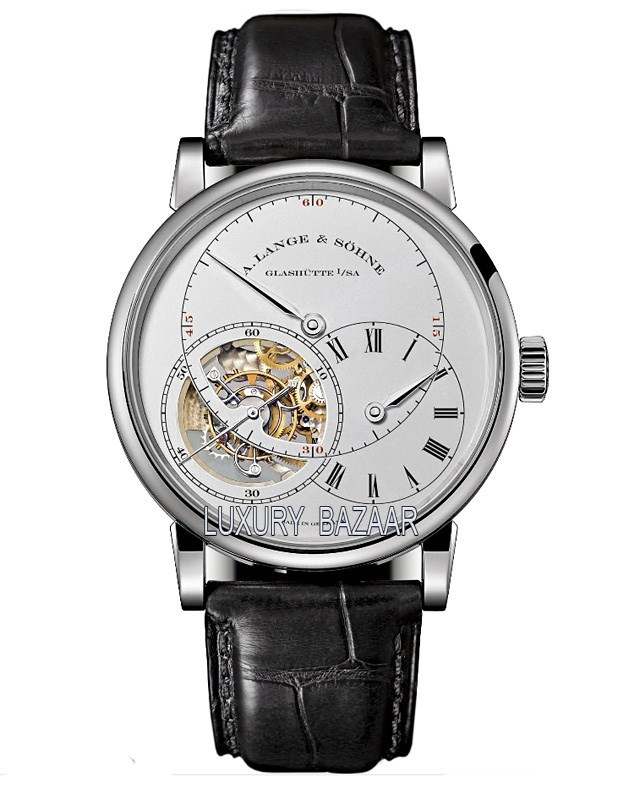 Richard Lange Tourbillon Pour le Merite (Platinum / Silver / Leather Strap)
