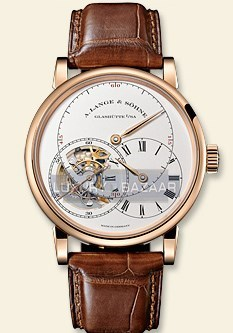 Richard Lange Tourbillon Pour le Merite (PG / Silver / Leather Strap)