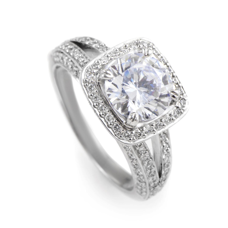 18K White Gold Diamond Engagement Ring Mounting 21635123