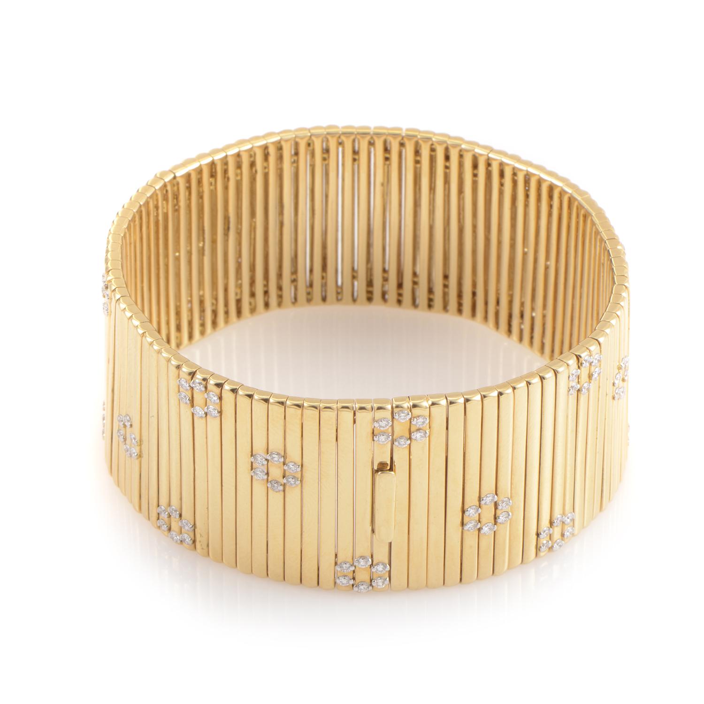 Roi Soleil 18K Multi-Tone Gold Diamond Flower Bracelet