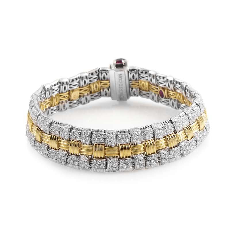 Appassionata Women's 18K Multi-Tone Gold Diamond Pave Bracelet