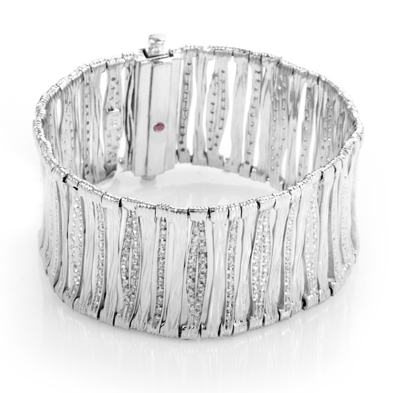 18K White Gold Diamond Elefantino Bracelet 330412AWLBX0