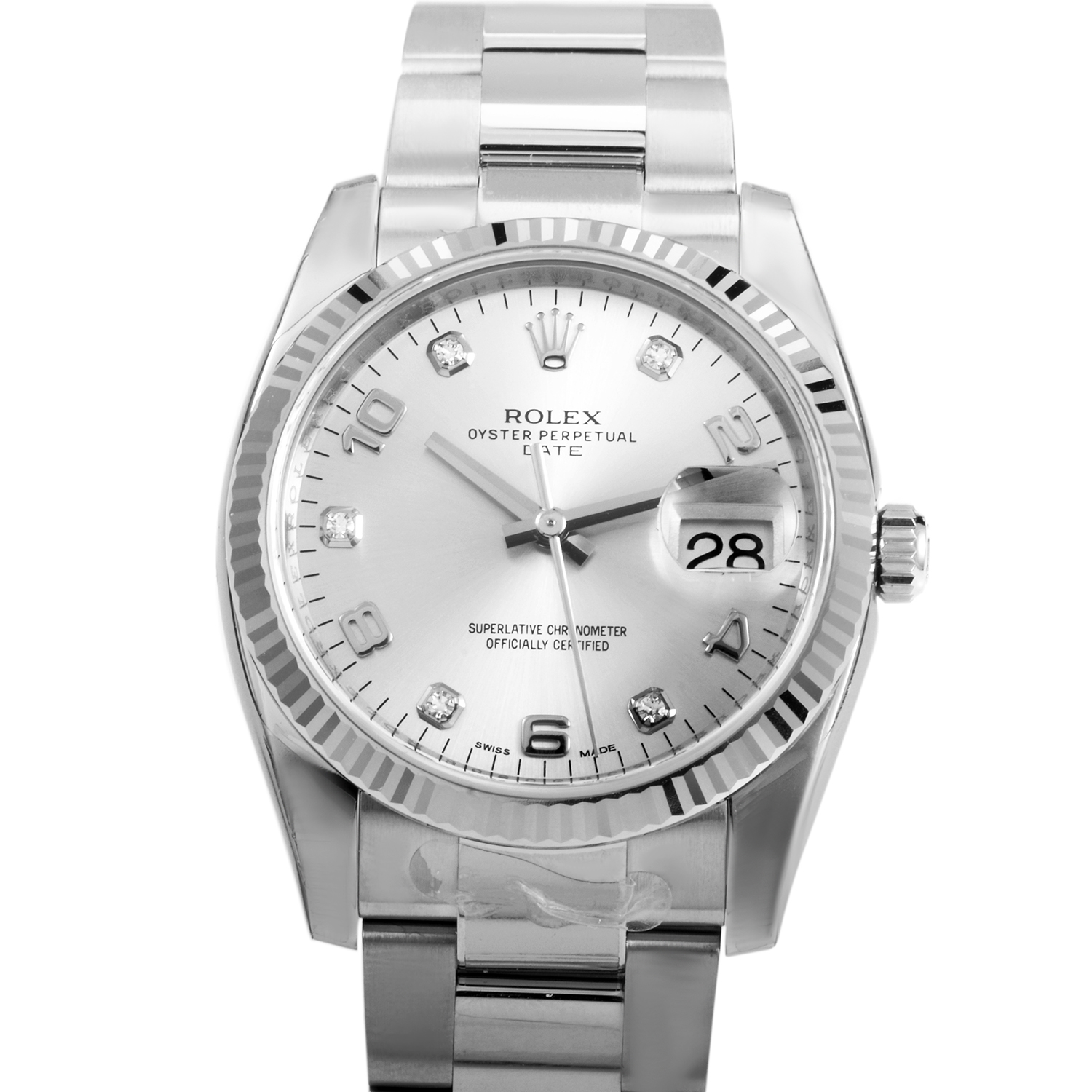 Oyster Perpetual Date 34mm Fluted Bezel 115234 sdo