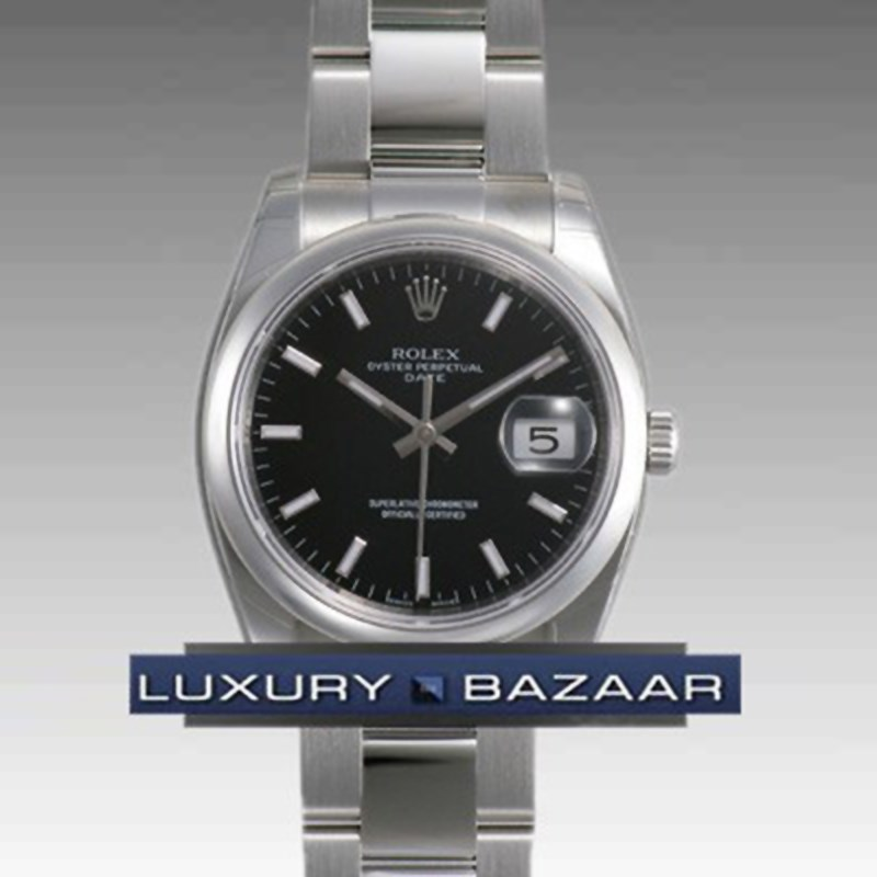 Date 34mm Domed Bezel 115200 bkio