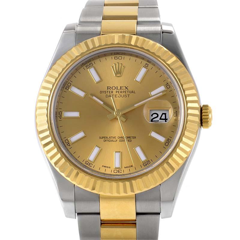 Datejust II Men's Automatic Watch 116333 chio