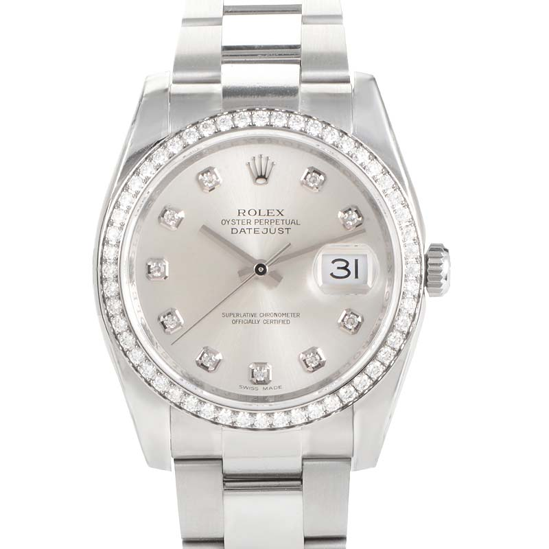 Oyster Perpetual Datejust 36mm Diamond Bezel 116244 sdo