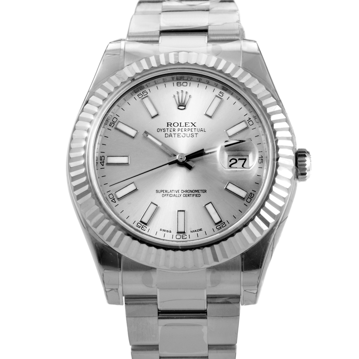 Oyster Perpetual Datejust II 41mm Fluted Bezel 116334 sio