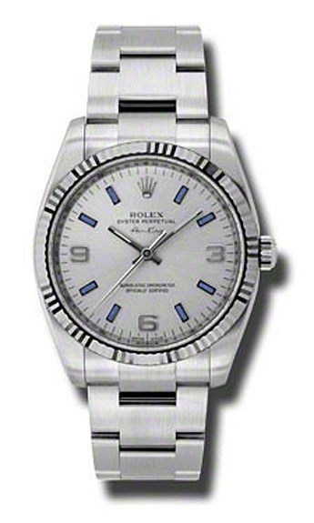 Oyster Perpetual Air-King 34mm Fluted Bezel 114234 sblio