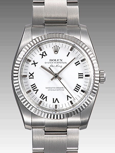 Oyster Perpetual Air-King 34mm Fluted Bezel 114234 wro