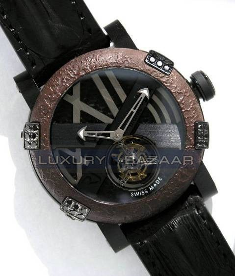 Titanic-DNA - rusted steel T-OXY III Tourbillon / Black