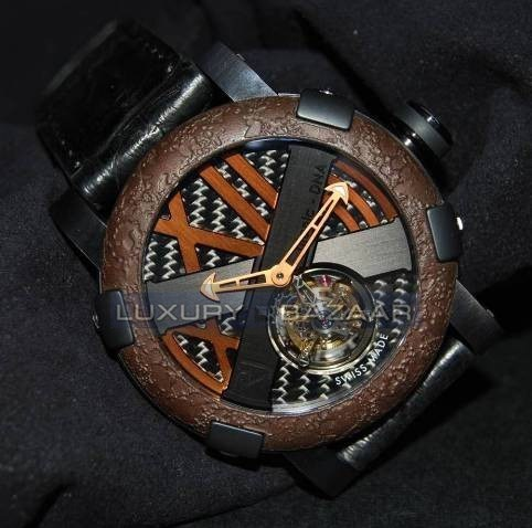 Titanic-DNA - rusted steel T-OXY III Tourbillon / Bronze