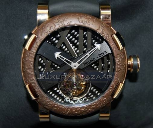 Titanic-DNA - rusted steel T-OXY III Tourbillon / Pink Gold