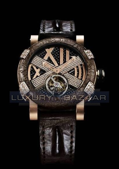Titanic-DNA - rusted steel T-OXY III Tourbillon / Pink Star I