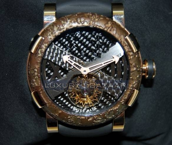 Titanic-DNA - rusted steel T-OXY IV Tourbillon Rodriguez Trauma/Pink Gold