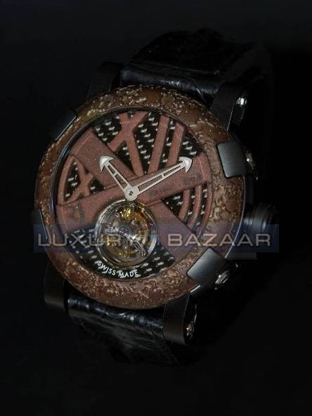 Titanic-DNA - rusted steel T-OXY IV Tourbillon Ultimate / Black