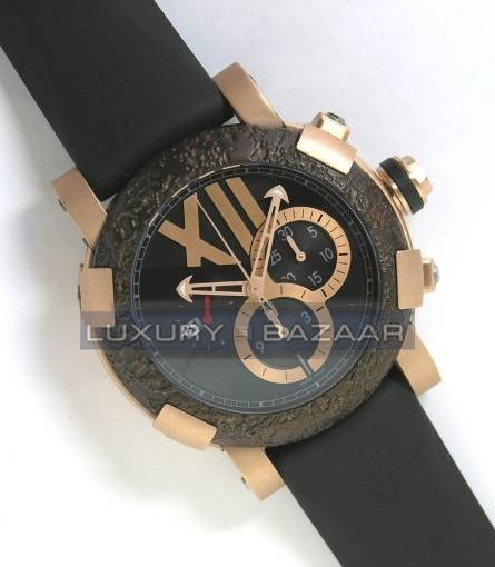 Titanic-DNA - Rusted steel T-OXY III Chronograph/Pink Gold Mat