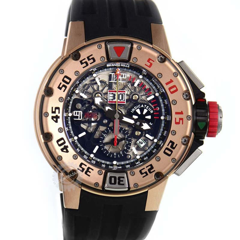 Rose Gold RM 032 Automatic Chronograph Dive Watch