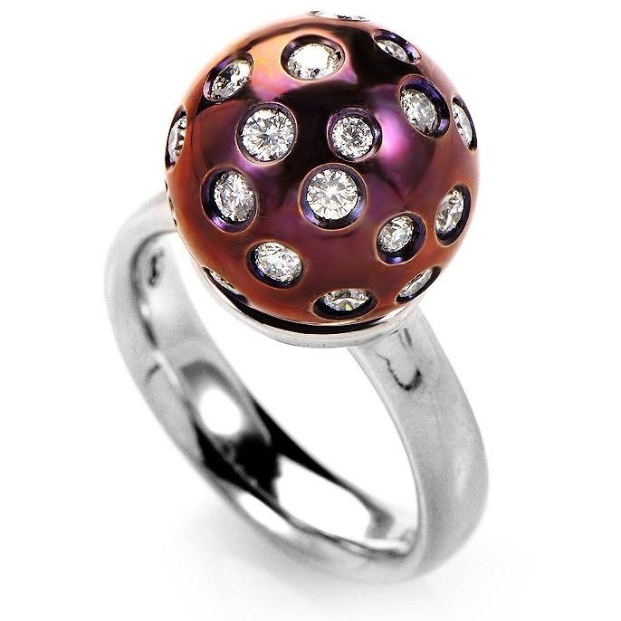 18K White Gold Diamond Ring SALAG04-080612