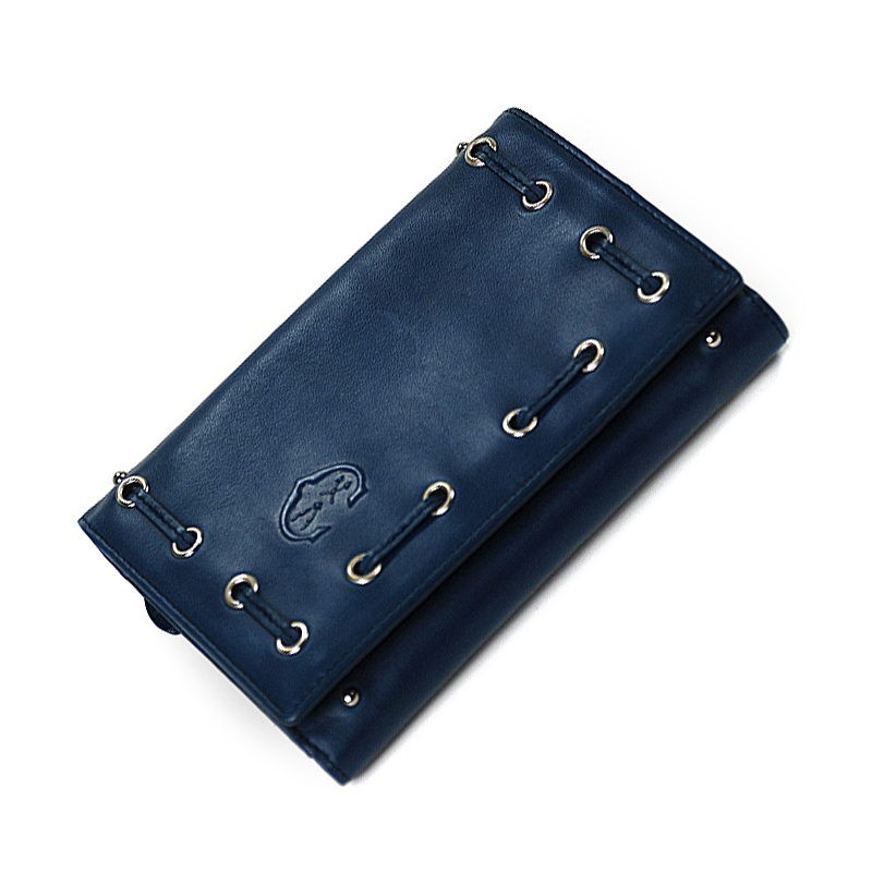 Olympia Teal Calfskin Leather Wallet SLGMALECO.22.9204