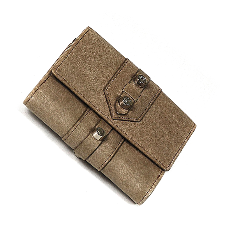 Olympia Brown Calfskin Wallet SLGOLIMCO.44.9109