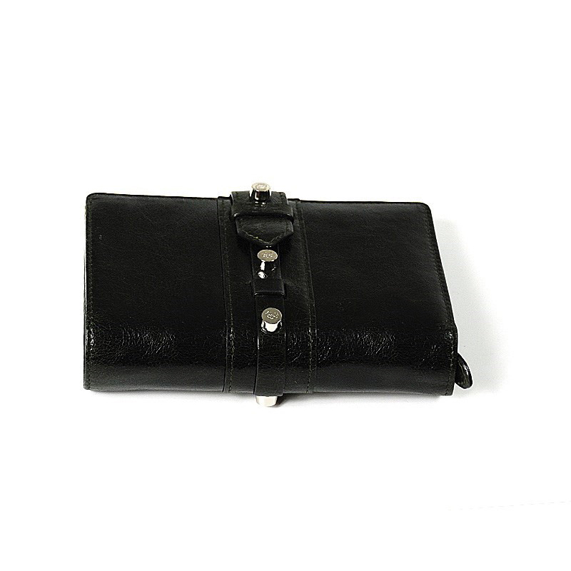 Calf Olympia Wallet Dark Green Black