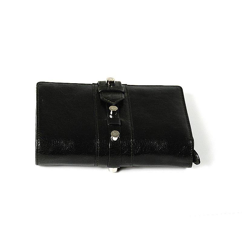 Olympia Black-Green Calfskin Wallet SLGOLIMCO.55.9204A