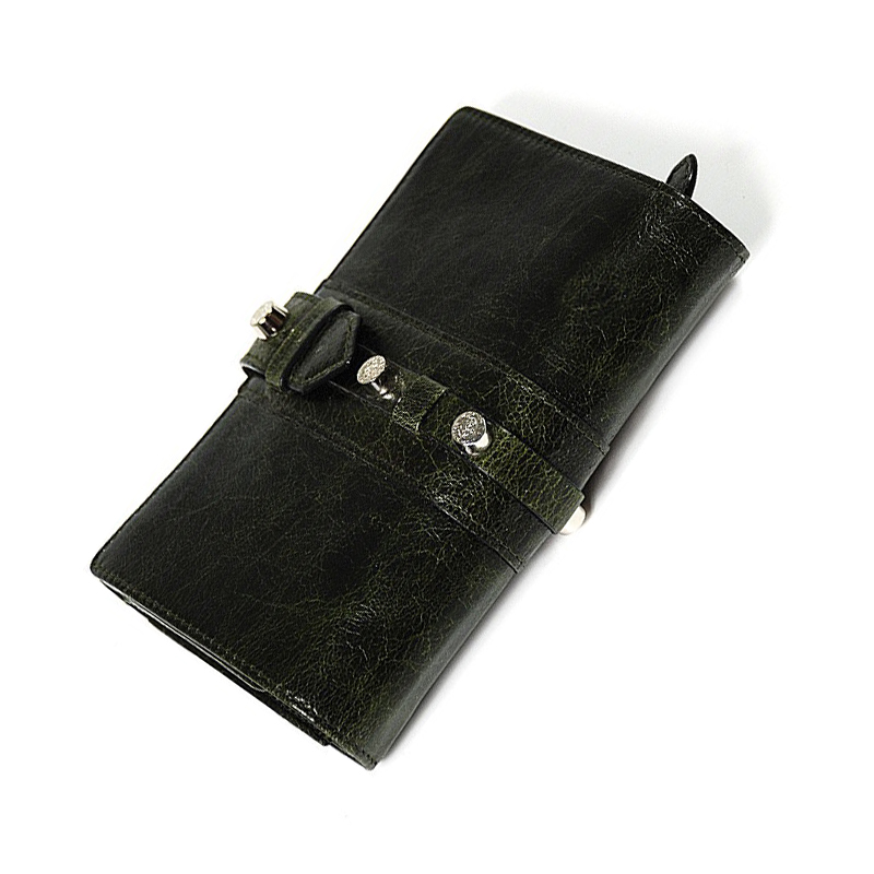 Calf Olympia Wallet Dark Green