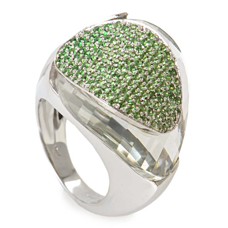 18K White Gold Sapphire Ring LF8-003280YG