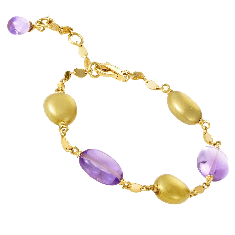 18K Yellow Gold Amethyst Bracelet SUP01-112715