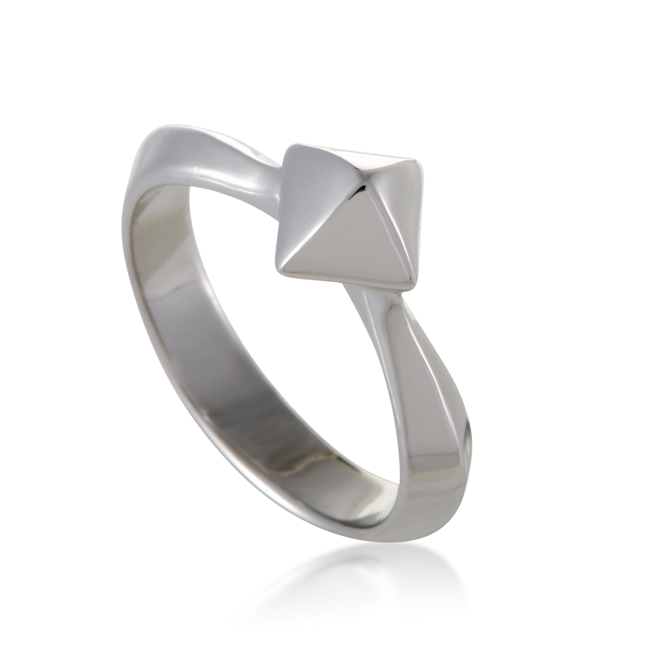 Superstud Womens Silver Stud Ring