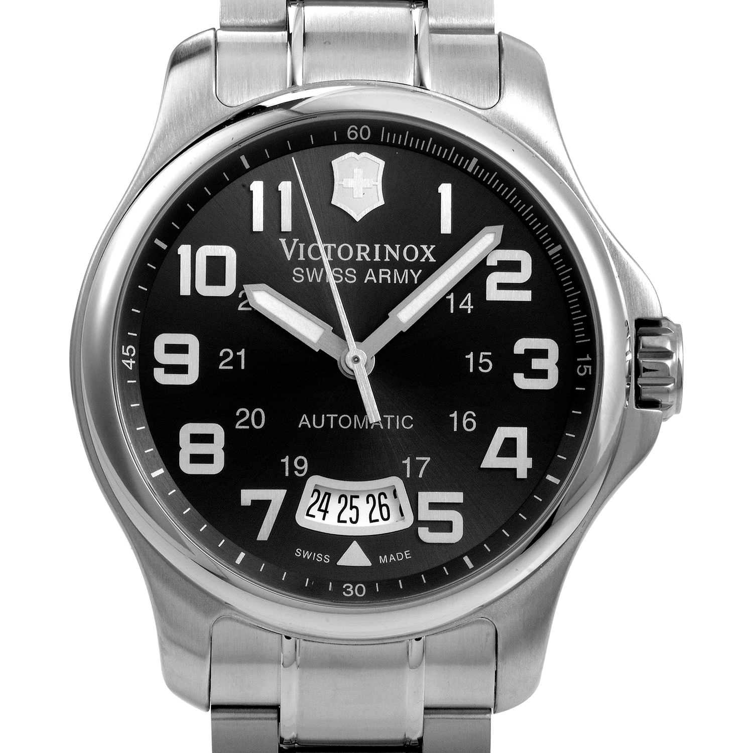 Officer's Mens Stainless Steel Automatic Watch 241373
