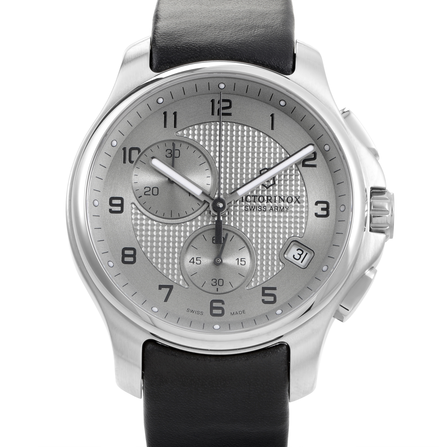 Officers Chrono Mens Stainless Steel Quarts Watch 241553