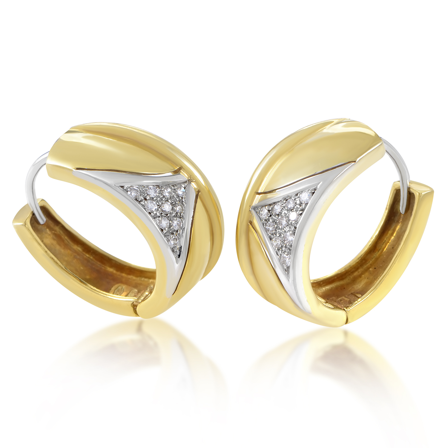 Salvini Women's 18K Multi-Tone Gold & Diamond Hoop Earrings